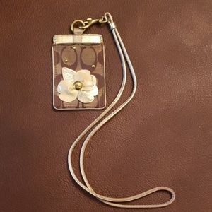 Coach Signature Flower Lanyard